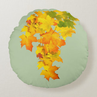 Fall Glory Round Throw pillow