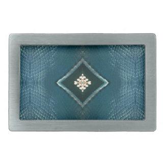 Fall-Schatten des Blaus mit Sahnediamant-Form Rechteckige Gürtelschnallen
