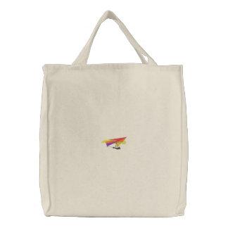 Fall-Segelflugzeug-Silhouette Bestickte Tasche