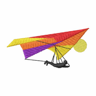 Fall-Segelflugzeug-Silhouette Besticktes Hoodie