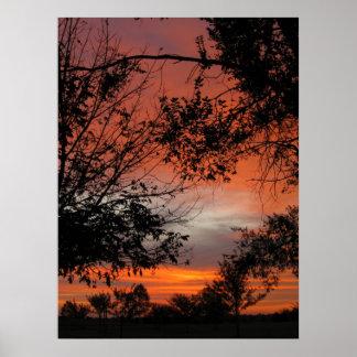 Fall-Sonnenaufgang Poster