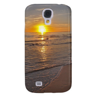 Fall: Sonnenuntergang durch den Strand Galaxy S4 Hülle