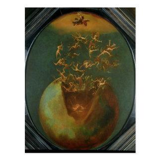 Fall von Satan und die Rebellenengel vom Himmel Postkarte