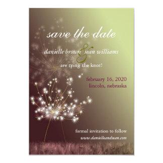 Fall-Wiesen-Löwenzahn, der Save the Date Wedding 12,7 X 17,8 Cm Einladungskarte