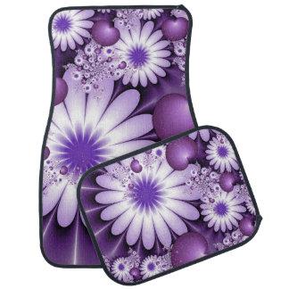 Fallen in Liebe-abstraktes Blumen-u. Herz-Fraktal Autofußmatte