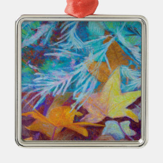 Fallen Sie in Winter Silbernes Ornament