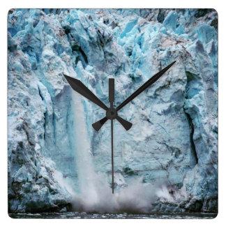 Fallende Eis-Uhr Quadratische Wanduhr