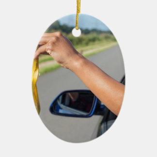 Fallende Schale des Armes des Autofensters der Keramik Ornament