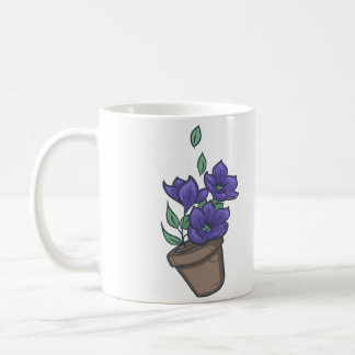 Fallende Schüssel Petunien Kaffeetasse