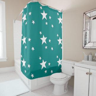 Fallende Sterne Duschvorhang