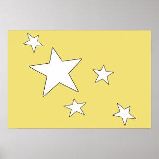 Fallende Sterne Poster