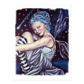 fallende Sterne Postkarte