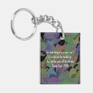 Fallendes Blätter Keychain Schlüsselanhänger