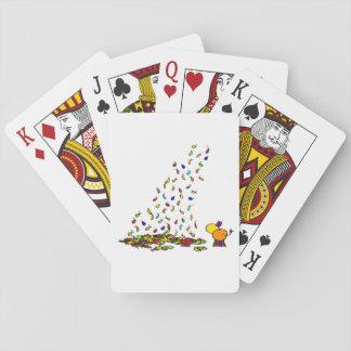 fallendes Blätter Pokerdeck