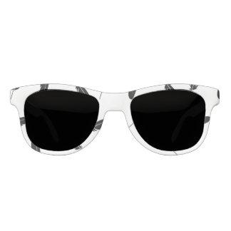 Fallendes Feder-Schwarzweiss-Muster Brille