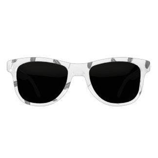 Fallendes Feder-Schwarzweiss-Muster Sonnenbrille