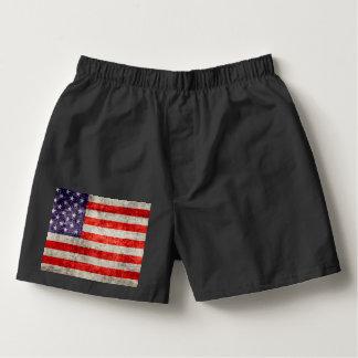 Falln antike amerikanische Flagge Herren-Boxershorts