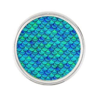 Falln Aqua-Blau-Skalen Anstecknadel