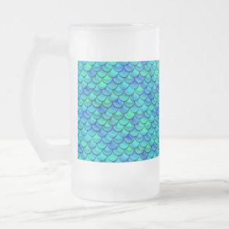 Falln Aqua-Blau-Skalen Mattglas Bierglas