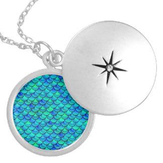 Falln Aqua-Blau-Skalen Medaillon