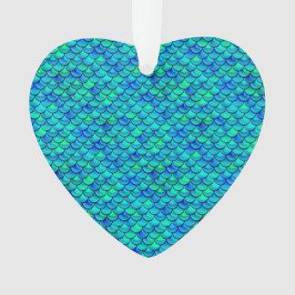 Falln Aqua-Blau-Skalen Ornament