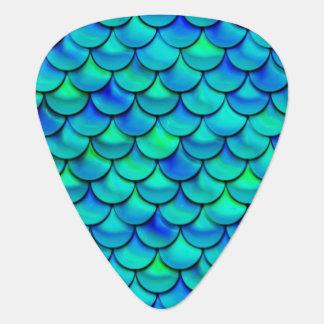 Falln Aqua-Blau-Skalen Plektron