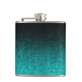 Falln Aqua u. schwarze Glitter-Steigung Flachmann