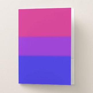 Falln bisexuelle Stolz-Flagge Mappe