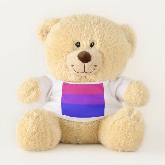 Falln bisexuelle Stolz-Flagge Teddybär