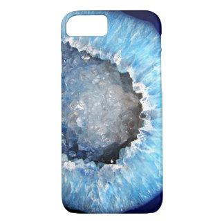 Falln blaues KristallGeode iPhone 8/7 Hülle