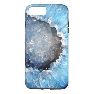 Falln blaues KristallGeode iPhone 8 Plus/7 Plus Hülle