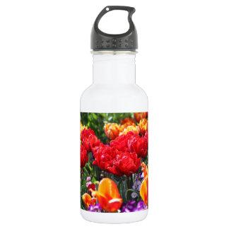 Falln Blumenhochrot-Wellen Trinkflasche