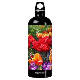 Falln Blumenhochrot-Wellen Wasserflasche