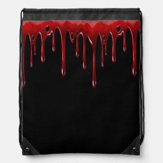 Falln Blut-Tropfen-Schwarzes Turnbeutel