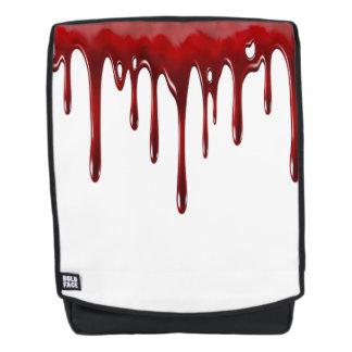 Falln Blut-Tropfen weiß Rucksack