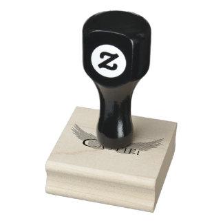 Falln Castiel mit Flügel-Schwarzem Gummistempel