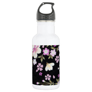 Falln, das rosa Blumen kaskadiert Edelstahlflasche