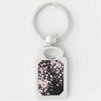 Falln, das rosa Blumen kaskadiert Schlüsselanhänger