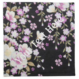 Falln, das rosa Blumen kaskadiert Serviette
