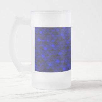 Falln dunkelblaue Meerjungfrau-Skalen Mattglas Bierglas