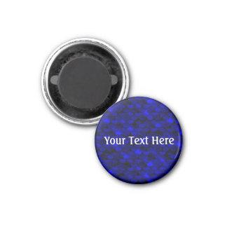 Falln dunkelblaue Meerjungfrau-Skalen Runder Magnet 3,2 Cm