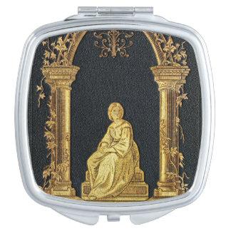 Falln Frau im Goldbucheinband Taschenspiegel