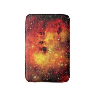 Falln Galaxie auf Feuer Badematten
