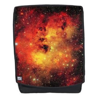 Falln Galaxie auf Feuer Rucksack