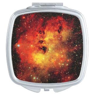 Falln Galaxie auf Feuer Taschenspiegel