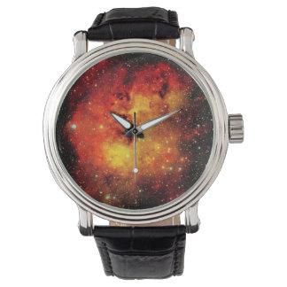 Falln Galaxie auf Feuer Uhr