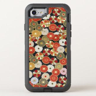 Falln goldene Chrysanthemen OtterBox Defender iPhone 8/7 Hülle