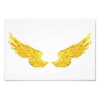 Falln goldene Engels-Flügel Fotodruck