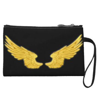 Falln goldene Engels-Flügel Kleine Clutch