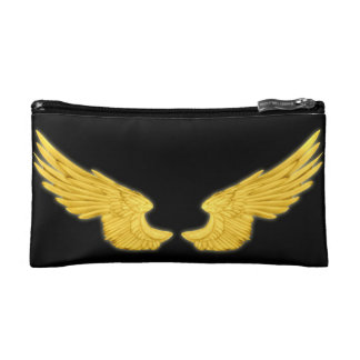 Falln goldene Engels-Flügel Kosmetiktasche